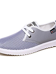 Femme-Sport-Bleu / Gris / Kaki-Talon Plat-Confort-Sneakers-Tulle