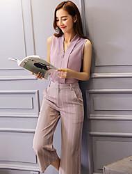 Wake Up® Women's V Neck Sleeveless Tea-length suit-TZ16169