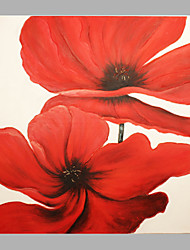IARTS Red Poppy Flowers On Canvas Sretchered Home Decor Ready To Hang