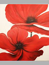 Peint à la main A fleurs/Botanique Peintures à l'huile,Modern / Classique / Réalisme / Pastoral / Style européen Un Panneau ToilePeinture