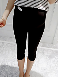 Maternity Street chic Straight Pants,Spandex Stretchy