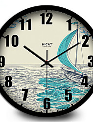 Simple Fashion And Elegant Living Room Decoration Home Furnishing Sailing Silent Wall Clock