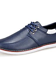 Men's Shoes PU Work & Duty / Casual Oxfords Work & Duty / Casual Walking Flat Heel Lace-up Black / Blue / White