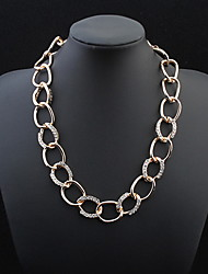 Stylish Atmosphere Chain Necklace Big Diamond