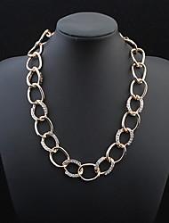 Stylish Atmosphere Chain Necklace Big Diamond
