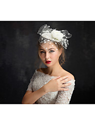 Women's Lace Tulle Headpiece-Special Occasion Fascinators 1 Piece