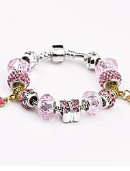 Women Pink Fashionable Daily Strand Bracelets