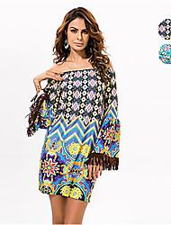 In Colour Women's Slash Neck Sleeveless Knee-length Dress-533214147100