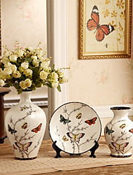 Three-piece Ceramic Crafts Vases