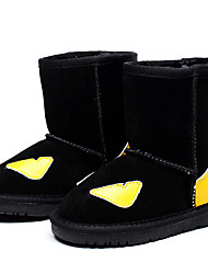 Girls' Shoes Outdoor / Casual Leather / Suede Boots Winter Snow Boots / Comfort Flat Heel Slip-on