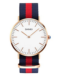 SKMEI® Men's Ultra Thin Japanese Quartz Fabric Strap Casual Fashion Watch Fashion Watch Cool Watch