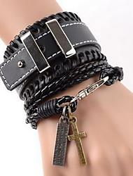 Lederen armbanden 1 stuks,Verstelbaar Others Koffiebruin Leder Sieraden Gifts
