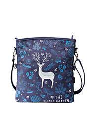 Flower Princess® Women Canvas Shoulder Bag Blue-1508XZ001