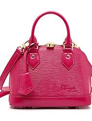 Stiya Fashion Large Capacity Multifunction Genuine Leather Wave Pattern Design Two Ways Lady Shoulder Bag