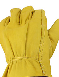 Leather Gloves, Working Gloves AB Grade Tough Wear Resistance, Low Temperature Safety Protection Work Gloves