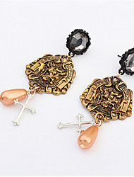 Inscription Retro Fashion Pendant Earrings