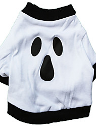 Gatos / Perros Disfraces / Camiseta Blanco Verano / Primavera/Otoño Halloween Cosplay / Halloween, Dog Clothes / Dog Clothing-Other