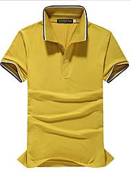 Men's Short Sleeve Polo,Cotton / Acrylic Casual / Work Solid 916277