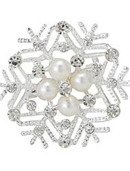бутик жемчуг christms снег цветок свадьбы брошь для женщин
