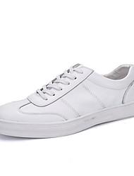 Da uomo-Sneakers-Casual SportivoPiatto-Finta pelle-Nero Blu Bianco
