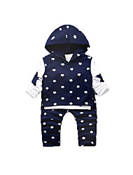 Baby Casual/Daily Print Clothing Set,Cotton Fall-Blue / Red / Yellow / Gray