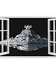 Big Size 3D Movie Star Wars Warship Spaceship 3D Wall Stickers PVC Wall Stickers Bedroom Wall Decals