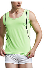 Running Tank / Tops Men's Breathable / Quick Dry Fitness / Racing Sports Sports Wear White / Green / Blue