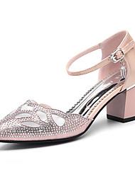 Women's Shoes Glitter Spring/Summer /Fall Heels Party & Evening / Dress Chunky Heel Sparkling Glitter Black/Gold