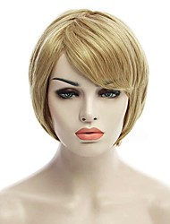 Natural Short Blonde Color Popular Straight Synthetic Wig For Woman