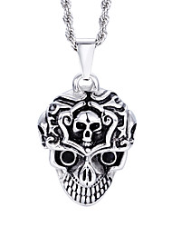 Kalen New Design Jewelry Men's Stainless Steel Skull Pendant Necklace