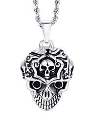 kalen® nouveaux bijoux design en acier inoxydable collier pendentif crâne hommes
