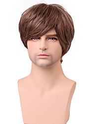parrucca bello brevi strati dritto uomini senza cappuccio capelli umani