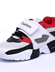 Men's Athletic Shoes Spring Summer Fall Winter Comfort Fleece Tulle Outdoor Casual Athletic Flat Heel Buckle Magic Tape Hook & LoopBlack