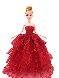 Wedding Dress Trailing Dress Evening Dress Costume Skirt Big Girl Toy Doll Clothing Apparel Skirt