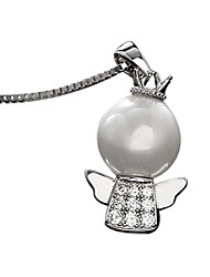 Women's Pendant Necklaces Silver Pearl Fashion Silver Jewelry Daily Casual 1pc