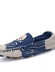 Herren-Flache Schuhe-Lässig-Denim Jeans-Flacher Absatz-Flache Schuhe-Blau / Rot / Dunkelgrün