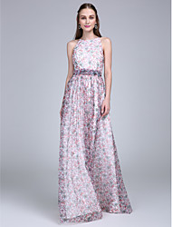 ts couture® formale Abend a-line Juwel bodenlangen Tüll mit Schärpe / Band / Bogenkleid (e)
