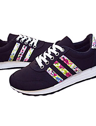 Women's Shoes Fabric Floral Low Heel Comfort Fashion All Match Flange Sneakers Outdoor / Casual