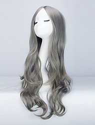 Europe And The United States Long Curly Wig Female Hair bang Grey Fake Hair In The Big Waves