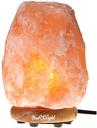 YouOKLight Carved Natural Crystal Himalayan Salt Lamp With Genuine Neem Wood Base, Bulb And Dimmer Control(US/EU Plug)