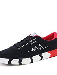 Sapatos Masculinos-Rasos-Azul / Branco / Preto e Vermelho / Preto e Branco-Camurça-Para Esporte