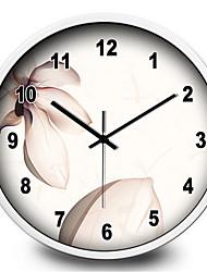 Круглый Модерн Настенные часы,Прочее Металл 30*30*7