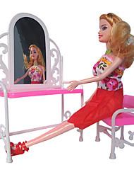 1477 Spielhaus Spielzeug Make-up Eitelkeit Tisch mit Stühlen kann Kind Puppe Baby ohne Eitelkeit Zähler sein