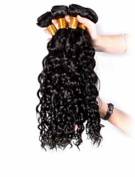 Человека ткет Волосы Бразильские волосы Кудрявый 4 предмета волосы ткет