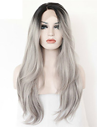 8A Grade #1B Grey Hair Full Lace Wig Ombre Lace Front Wig Virgin Indian Human Hair Glueless Wig Straight Human Hair Wig