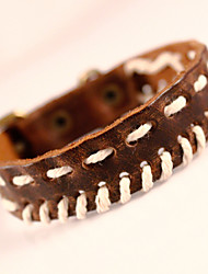 Genuine Leather Bracelet Men Rock Vintage Jewelry For Men Wristband