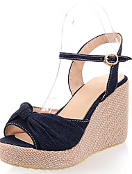 Women's Shoes Wedge Heel Peep Toe Platform Sandals with Bowtie More Color Available