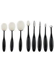 10 Pcs Tooth Brush Shape Oval Makeup Brushes Foundation Contour Powder Eyebrow Blush Eyeshadow Brush Set