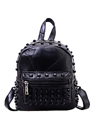 Women PU Sports / Casual / Shopping Backpack Black
