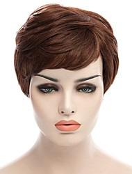 Natural Short Brown Color Popular Curly Synthetic Wig For Woman
